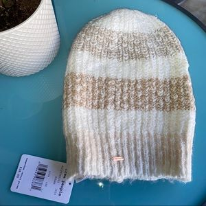 Free people Cozy in stripes beanie hat new